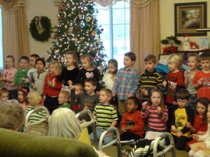 Students Singing Christmas Carols